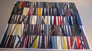 The whole of Noel's tie quilt.