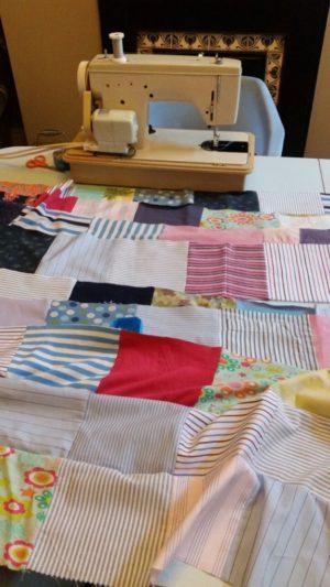 Work in progress on Ellie's quilt.
