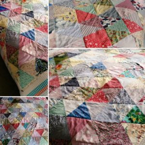 TaDah! Kate's mum finished quilt