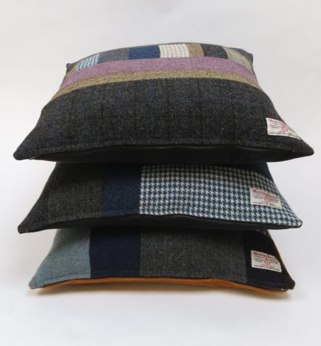 50cm square patchwork cushions