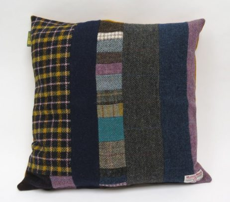 One of a kind Harris Tweed Patchwork cushion