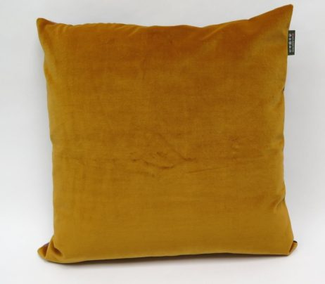 yellow velvet cushion backing