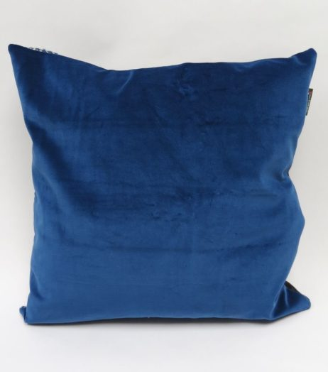 (Bright) Blue velvet backing