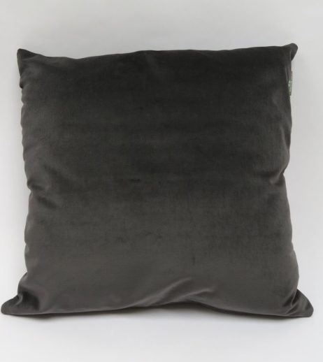 Charcoal velvet cushion back