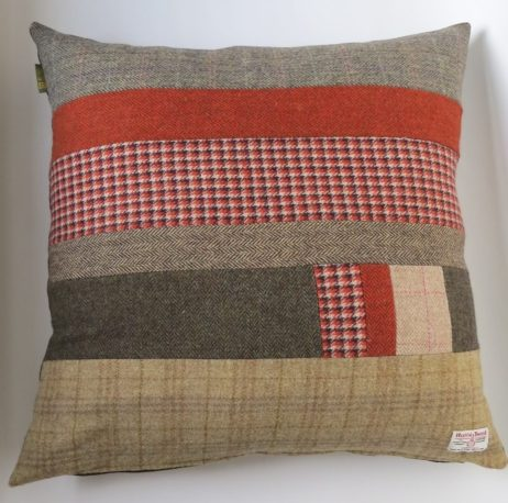 If you would like to see some pics of current cushion stock, or would like me to stitch you a bespoke cushion (or more!) just e-mail me at lisa@quiltsbylisawatson.co.uk. Once you have chosen & clicked on your cushion size and proceeded to the checkout, in the order notes, you can add an HT colourway you wish; and also add the colour of the backing fabric you wish; Choose from Folklore fabric, velvet in; sunshine yellow; charcoal grey; bright blue or mole brown. Otherwise, it's a colour pop Harris Tweed lucky dip and I guarantee all the cushions are gorgeous.