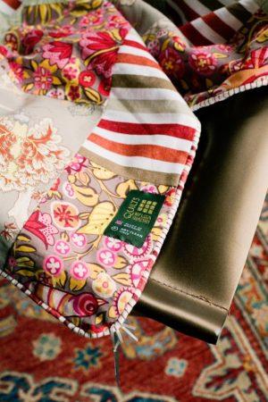 Details. Close up of The Original Cotton Patchwork Quilt