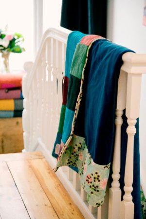 Brights Harris Tweed patchwork quilt