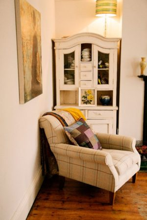 Retro&Relaxed One of a kind harris Tweed quilt & cushion
