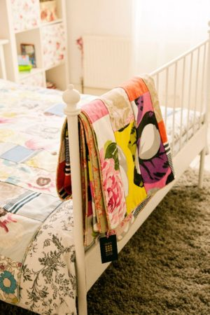 Cool Blues Summery Quilt with Designer Guild & John Lewis fabrics