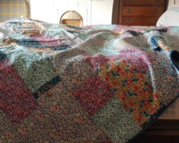 Vintage Liberty and Tana Lawn kingsize patchwork quilt