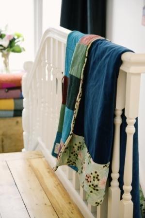 Brights Harris Tweed quilt