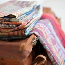 Close up of Folklore Fabrics. All designs are available in several glorious colourways.