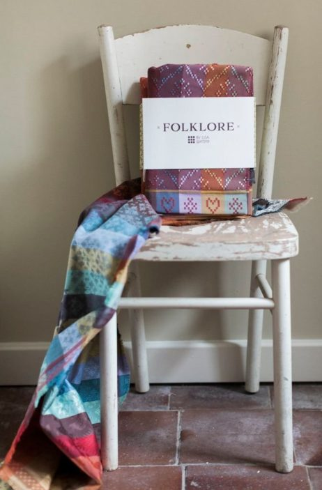 Folklore Fabric folded & packaged ready for you to use.