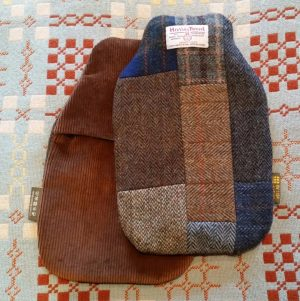 Harris Tweed, patchwork, hot water bottle, cover