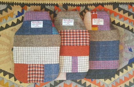 Harris Tweed Patchwork Hot Water Bottle Cover – One Of A Kind & 100% British Made