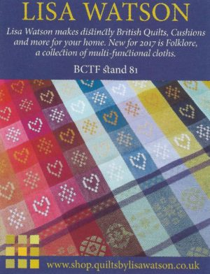 BCTF17 promotion feature, including image of Folklore Fabric NEW for 2017