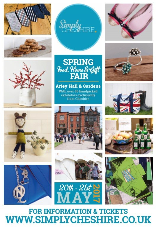 Simply Cheshire is a fabulous food, home and gift fair taking place on Saturday May 20th and Sunday May 21st 2017 at the magnificent Arley Hall and Gardens.