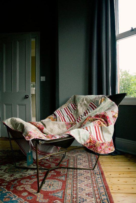 The original summery patchwork quilt - £185