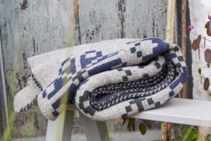 British Woollen Blanket - BIG Fair Isle motif