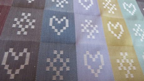 Folklore Fabric metered length in Ecru colourway