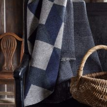 Tumbling Block blanket - knitted with 100% Yorkshire wool