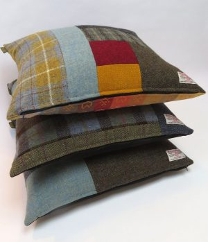 Harris Tweed Patchwork Cushions – 100% British Made & One Of A Kind