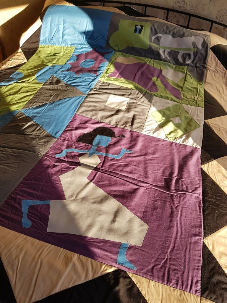 Finished bespoke quilt