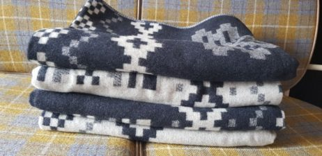 Woven and finished for me at John Spencer in Lancashire my new BIG Fair Isle reversible wool blankets are 100% British Made and are a welcome addition to By Lisa Watson authentically British collection of quilts, cushions & more for your home.