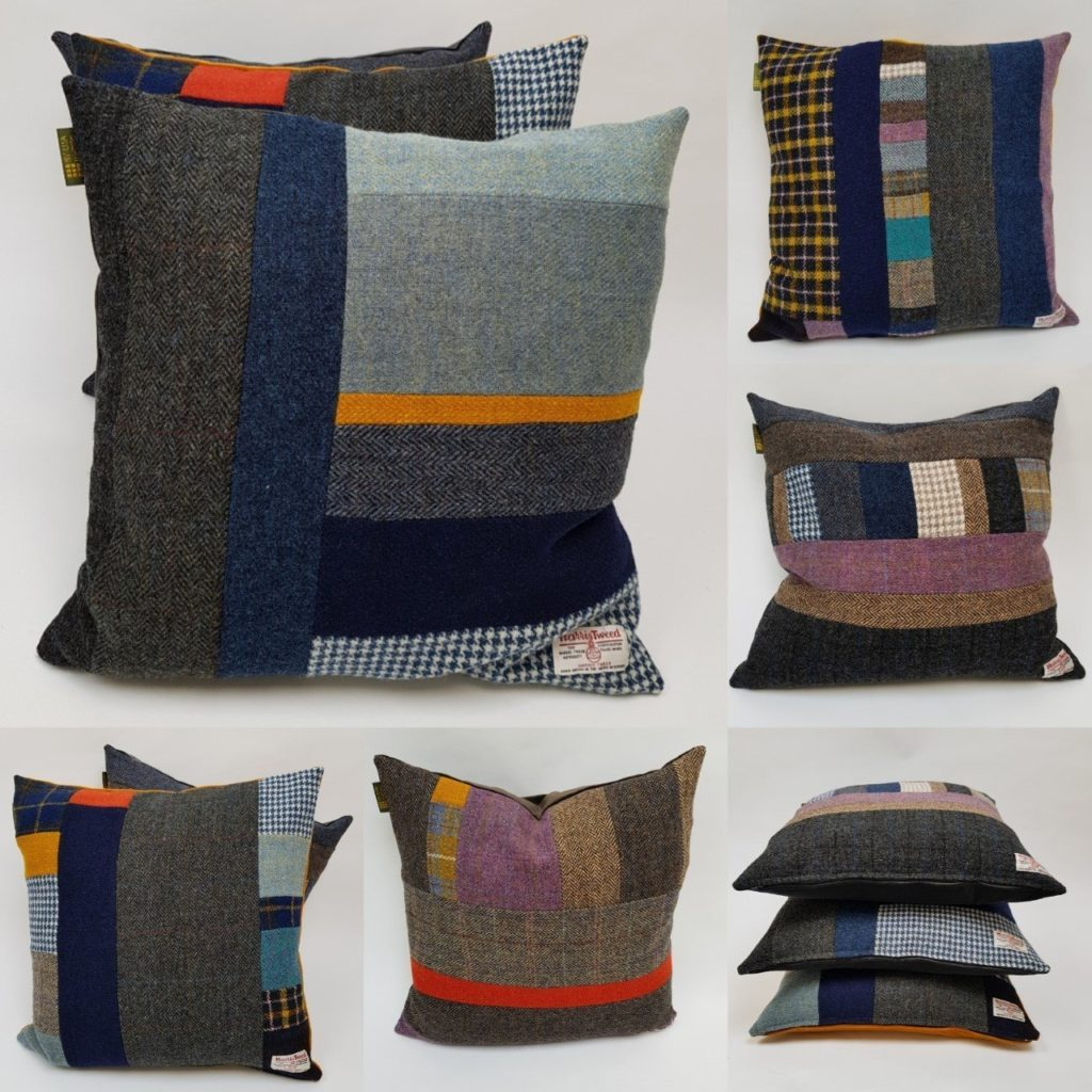 These cushions will compliment any of my Harris Tweed quilted throws-quilted bedspreads-quilts, or look standalone fabulous in any interior scheme. These cushions are a real colour tonic to counteract dreary days.