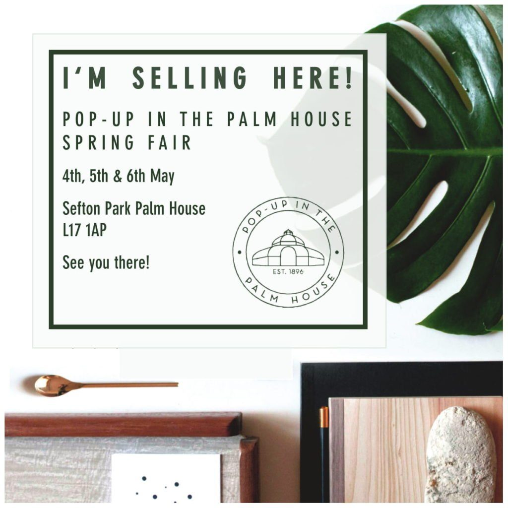Thrilled to return again to the fun&friendly Pop-Up In The Palm House on the May Bank holiday weekend on Saturday 4th & Sunday 5th May.