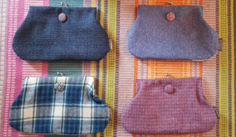 Harris Tweed clasp purse