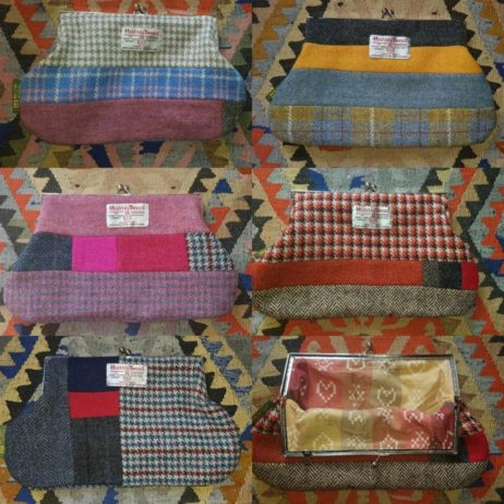 NEW product; Harris Tweed patchwork clasp purses - one of a kind and 100% British Made